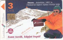 LATVIA - High Mountains, 7 Tops For Latvia, Tirage 30000, Exp.date 12/03, Used - Latvia