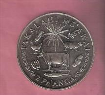 TONGA 2 PA´ANGA 1975 FAO ANIMALS PALM TREE UNC - Tonga