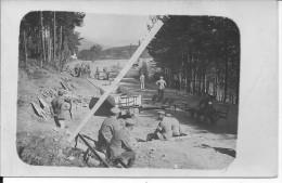 Construction D'un Cemin De Fer Voie Réduite Decauville Par Des Pionniers Allemands Pionier 1carte Photo 14-18 Ww1 WwI Wk - War, Military