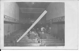 1916 Soldaten Kino Soldats Allemands Dans Une Salle De Cinéma Ou De Théâtre 1 Carte Photo 1914-1918 14-18 Ww1 WwI Wk - Guerre, Militaire
