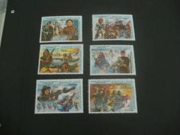 F5155 -set  Mint Hinged Libya- 1983- SC.1130-1135- Women In Armed Forces - September 1 Revolution - Libyen