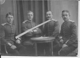 Officiers Allemands Du IR 75 Régiment Monogrammé Brême 1 Photo 1914-1918 14-18 Ww1 WwI Wk - War, Military