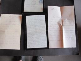 Correspondance priv�e - Mme DEROUSSECINQ DE MESCHINO rue de Bourgogne Paris - 1884 -