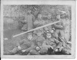Soldats Allemands Devant Une Carrière Aisne?oise? 1 Photo 1914-1918 14-18 Ww1wwI Wk - War, Military