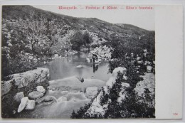 Elisaquelle (Palestine), Fontaine D´Elisée, Carte Postale Ancienne. - Palestine