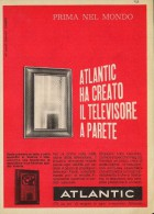 # ATLANTIC TV TELEVISION ITALY 1950s Advert Pubblicità Publicitè Reklame Publicidad Radio TV Televisione - Television