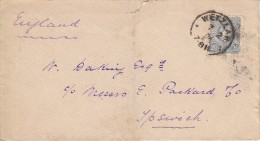 Germany Cover To Ipswich, England Franked With Scott #40 - Germany