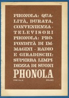# PHONOLA TV TELEVISION ITALY 1950s Advert Pubblicità Publicitè Reklame Publicidad Radio TV Televisione - Television