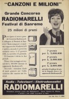 # RADIOMARELLI TV TELEVISION ITALY 1950s Advert Pubblicità Publicitè Reklame Publicidad Radio TV Televisione - Television
