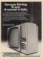 # KORTING TV TELEVISION ITALY 1950s Advert Pubblicità Publicitè Reklame Publicidad Radio TV Televisione - Televisione