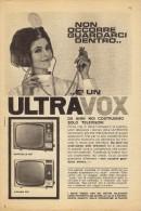# ULTRAVOX TV TELEVISION ITALY 1950s Advert Pubblicità Publicitè Reklame Publicidad Radio TV Televisione - Television