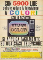 # VISION COLOR COLORADO TV TELEVISION ITALY 1950s Advert Pubblicità Publicitè Reklame Publicidad Radio TV Televisione - Television