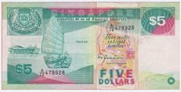 SINGAPOURE - 5 Dollars De 1989 - Pick 19 - Singapore