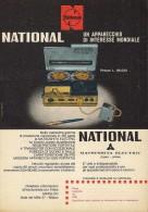 # NATIONAL RECORDER ITALY 1950s Advert Pubblicità Publicitè Reklame Publicidad Radio Registratore TV Television - Non Classificati