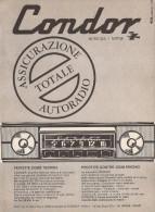 # CONDOR AUTORADIO ITALY 1950s Advert Pubblicità Publicitè Reklame Drehscheibe Car Radio TV Television - Radio & TSF