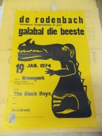 Affiche Galabal Die Beeste - De Rodenbach - Studenten Gent Roeselare 1974 - Affiches