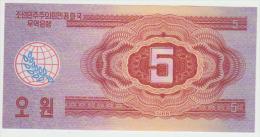 Korea North 5 Won 1988 Pick 36 UNC - Corea Del Nord