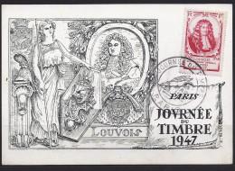 Env Fdc France, N°779 Y Et T, Journée Du Timbre, Louvois, 15-3-1947 Paris - FDC