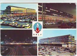 AERODROME . AEROPORT DE PARIS ORLY . L'AEROGARE ET LE PARKING . L'ENTREE DE L'AEROGARE. L'AEROGARE VU DE NUIT - Aerodrome