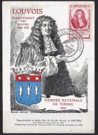 Env Fdc France, N°779 Y Et T, Journée Du Timbre, Louvois, Armoiries, 15-3-1947 Paris - FDC