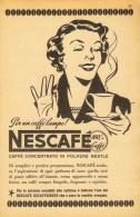 # NESCAFE´ NESTLE CAFFE´ 1950s Italy Advert Pubblicità Publicitè Reklame Food Coffee Cafè Kaffee - Posters