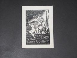 EX LIBRIS  CH.FAVET Op 201 1952 - Pour Albert Collart - Ex-libris