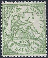 ESPAÑA 1874 - Edifil #150 Sin Goma (*) - 1873-74 Regentschaft