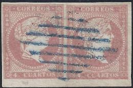 ESPAÑA 1856 - Edifil #48 - VFU - 1850-68 Reino: Isabel II