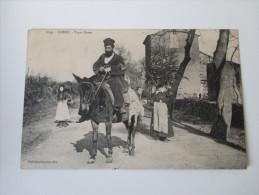 AK Korsika / Corse - Type Corse. 1909 Einheimische Beim Holzlesen. Pferd. Collection J. Moretti, Corte (Corse) - Frankreich