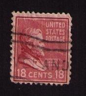 Timbre Oblitéré États-Unis, Président Ulysses Grant (1822-1885), 18 Cents, 1938 - Etats-Unis