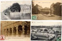 Belgique, 11 Cpa De Liège (canal, Péniche, Palais De Justice, Gare, Ourthe, ...) - Belgique