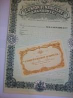2588  -- Etr. EGYPTE -- L´UNION FINANCIERE LAGNADO & C° . Certificat De Vente Non Dédié - Aandelen