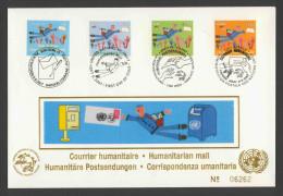 United Nations New York 2007 Letter / Brief + Mi 1074, 21, 583, 512 - Postman, Hands – Humanitarian Mail / Postsendungen - Gezamelijke Uitgaven New York/Genève/Wenen