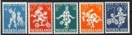 """1958 Netherlands Complete MNH Set Of 5 Stamps """" Voor Het Kind"""" Michel 723-727 - Used Stamps"""