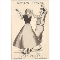 PUTP1809-LFTD6540TPU. Tarjeta Postal De España.Palma De Mallorca.CASA OLIVER,Danzas Tipicas.CREACIONES PONTAS - Publicidad