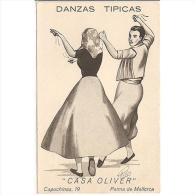 PUTP1809-LFTD6540TPU. Tarjeta Postal De España.Palma De Mallorca.CASA OLIVER,Danzas Tipicas.CREACIONES PONTAS - Advertising