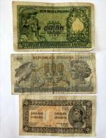 Lot De 3 Billet S En L,état - Monnaies & Billets