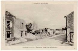 Isles Sur Suippe - La Marne Dévastée - Maisons En Ruines, Rue De Bazancourt - France