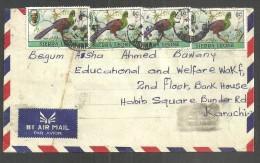USED AIR MAIL COVER  SIERRA LEONE  BIRDS ON  COVER - Sierra Leona (1961-...)