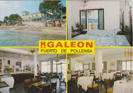ESPAGNE - Puerto De Pollensa - Hostal Galeon - Hôtel Galeon - - 2 Scans - - Hotel's & Restaurants