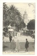 Cp, Algérie, Alger, Palmiers, Place Du Gouvernement, Voyagée 1909 - Alger