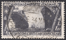 Italy, 1 L. 1932, Sc # 300, Mi # 425, Used - 1900-44 Vittorio Emanuele III