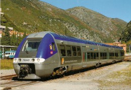 FRANCE : BREIL SUR ROYA (06) TER PROVENCE-ALPES-COTE D'AZUR Autorail XGC X 76543-544 En 2008 Détails  2ème Scan - Trenes
