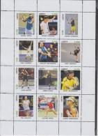 Fantasy Label Tennis The Best Players RARE NICE SHEET NADAL, BLAKE, MARTIN  ** - Tennis