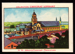Chocolat LOMBART  N° 90 Maine Et Loire Abbaye De Fontevrault - Lombart