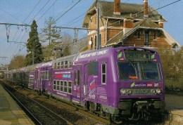 FRANCE : CHAVILLE-VELIZY (78) RER C - Z 5664-5663 En 2007 Détails  2ème Scan - Trains