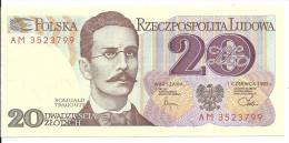 Pologne Billet Polonnais Narodowy Bank Polski 20 Dwadziescia Zlotych   ( Multicouleur  ) Romuald Trauguit ( Aigle ) - Pologne