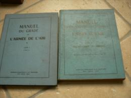 lot de 2 manuel du grad� de l arm�e de l air pilote aviation edition 1951 et 1955 indochine  pistolet grenade 24 29