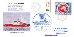 TAAF. PA 109 De 1989 Sur Enveloppe Commémorative. L´Astrolabe. - Autres