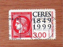 FRANCE  -- CERES  ROUGE  DE  1899  SUR  TIMBRE  -- CACHET DU  57.. MOSELLE  --  **  3;00  F.  ** --  POSTE  1999  -- BEG - Used Stamps